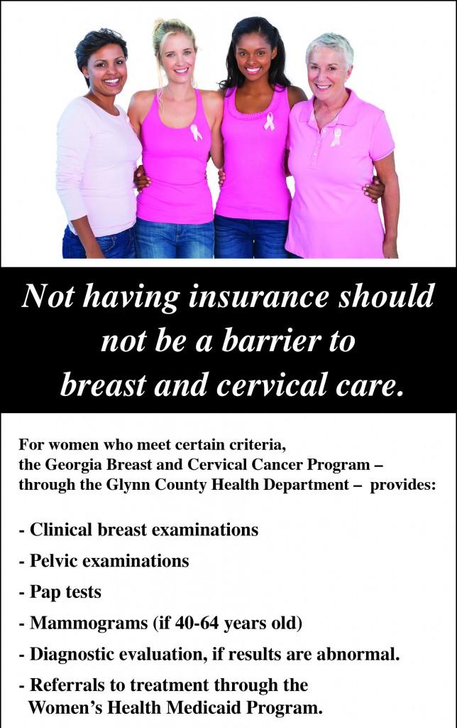 Breast and Cervical Cancer Program Information - Georgia Coastal Health District Georgia Coastal ...