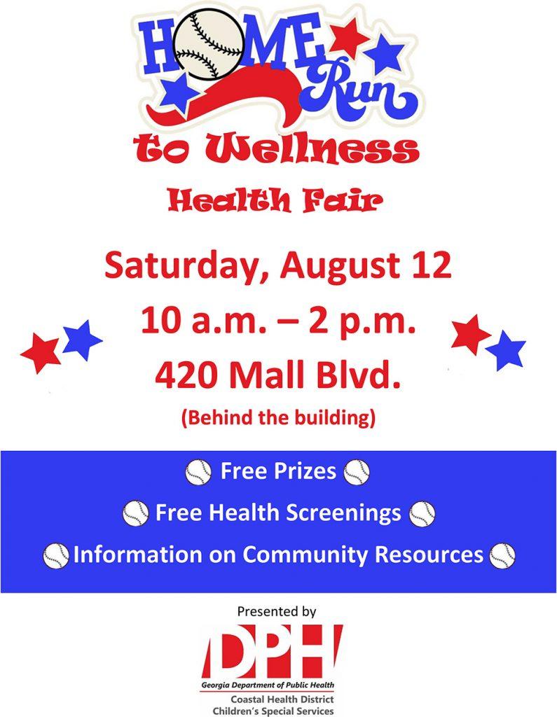 Homerun To Wellness Health Fair Aug 12 Georgia Coastal